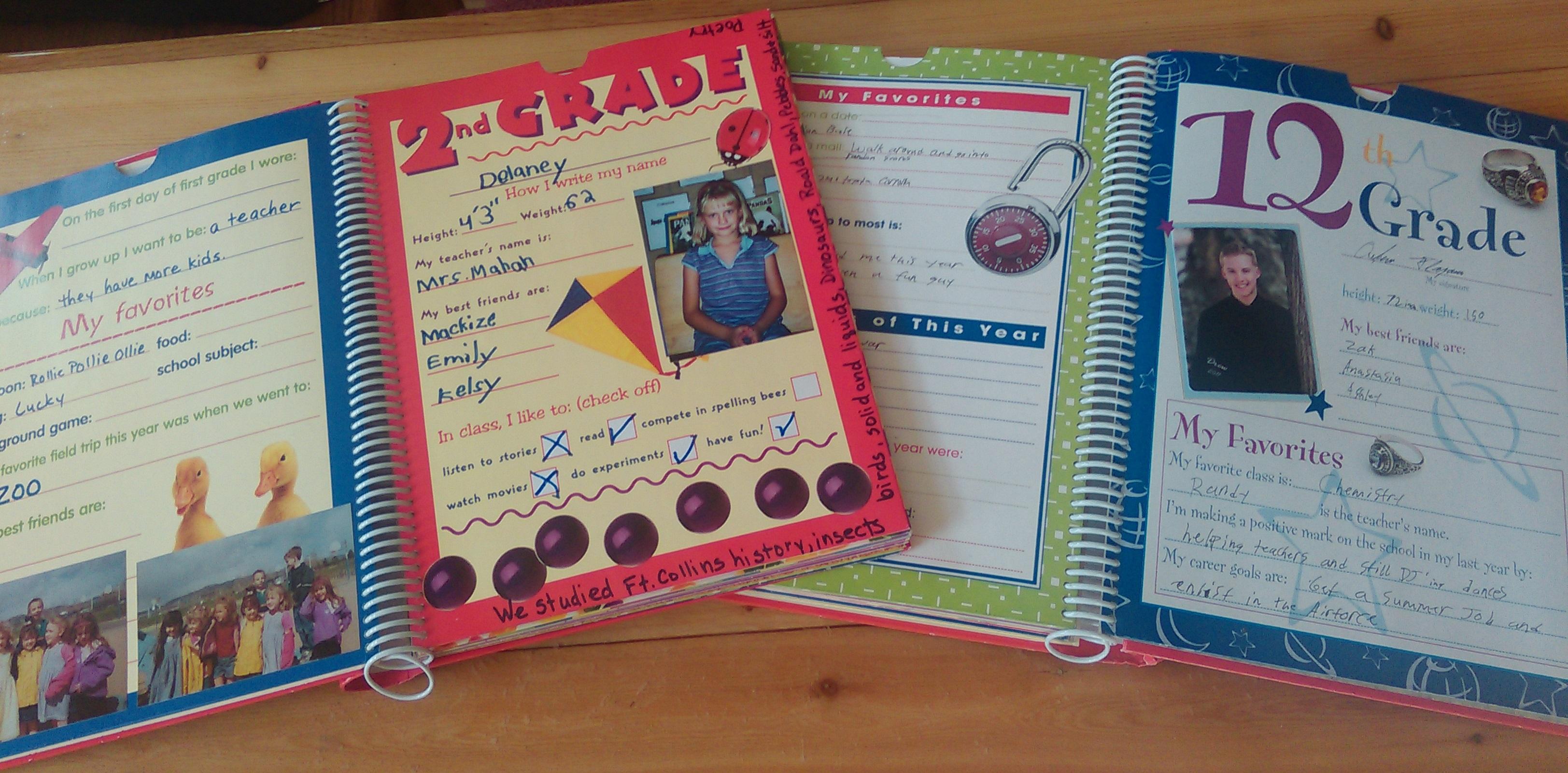 Memory Book Cover Ideas : Capture school year memories — birthday keepsakes