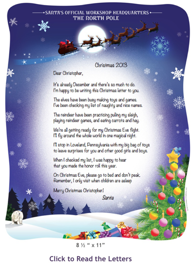 Letters to and from santa birthday keepsakes blog letters to and from santa spiritdancerdesigns Image collections
