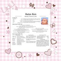 birthday keepsakes Personalized 'Day You Were Born' Baby Keepsakes, Wedding Keepsakes  birthday keepsakes