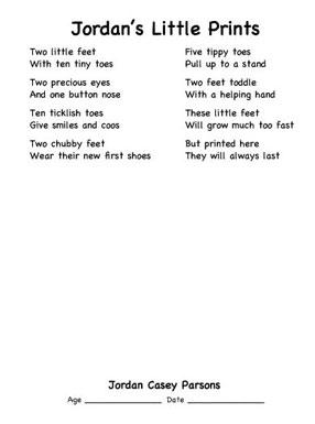 tiny feet poem