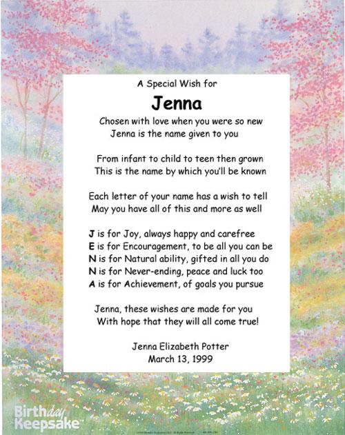 acronym name poem